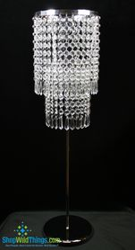 """""""Vienna"""" Tall Tabletop Crystal Candle Holder 27"""""""