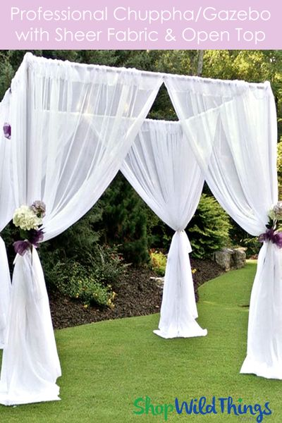 (FREE SHIPPING!) Wedding & Event Canopy Professional Series With Sheer Curtains - 8' Tall by 6'-10' Wide
