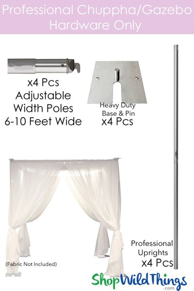 Wedding & Event Canopy Hardware - 8' Tall by 6'-10' Wide