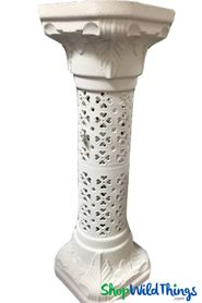 "Roman Pillar Column Stand & Floral Riser - Adjustable - 37"" Tall"