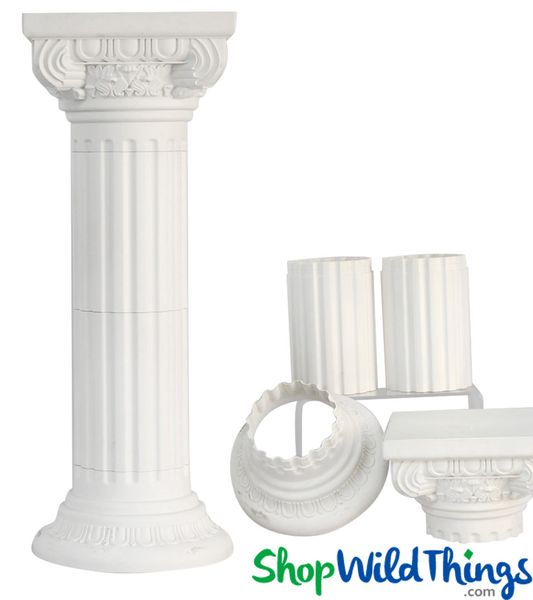 Pillar Stand Roman Column & Floral Riser - Adjustable - 36 1/2""