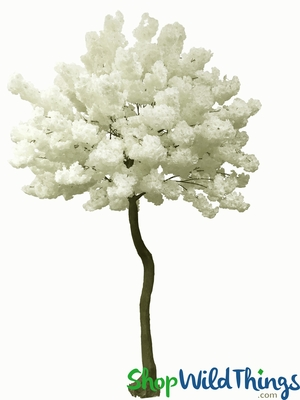 Fluffy Dogwood Tree Ivory Artificial Wedding Event Trees