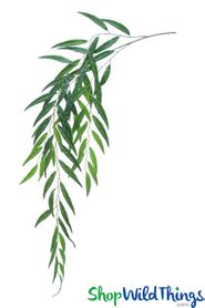 "Weeping Willow Spray - 46"" Bendable Greenery Stem - 68 Leaves"