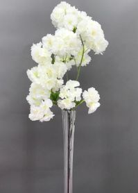 """Flowering Tree Branch -  41"""" Tall - Bendable - White"""