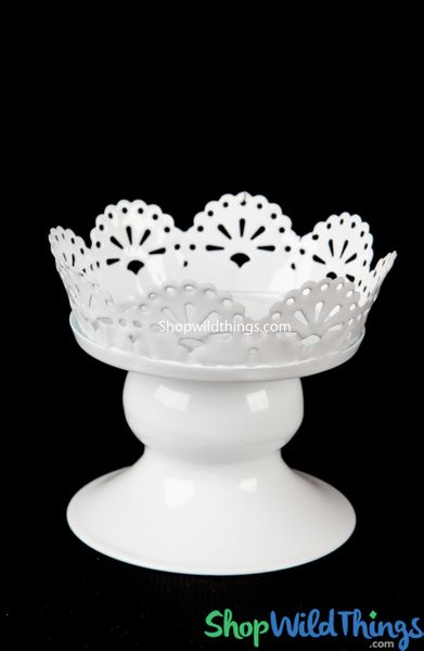 White Eyelet Single Cupcake Stand - Metal - Set of 6 Pcs (as low as $2.82 per cup)