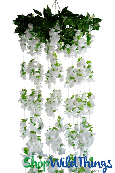 "Hanging 2 Tier Floral Chandelier ""Kaleen"" - 6 Foot Column Kit"
