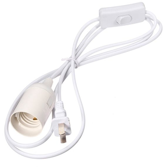 COMING SOON! White Light Cable With Switch - 15 ft Light Cord - Light Kit