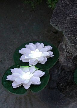 Acolyte White LilyLytes - LED Floating Lilies (Pick Other Colors Too!)