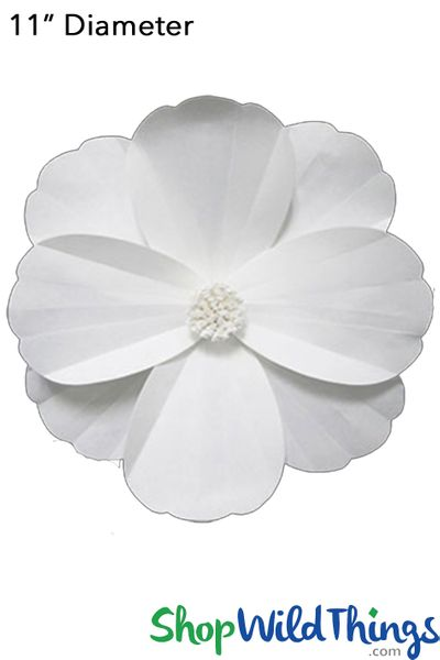 "Paper Flower Cosmos 11"" Off-White - Make Flower Walls!"