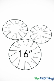 """Wire Wreath Form - 16"""" Round - (Tabletop or Hanging)"""