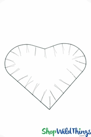 "Wire Wreath Form - Single Frame - 28"" x 24"" Heart"
