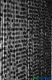 """Wooden Bead Curtain - """"Ashford Black"""" - 35 1/2"""" x 77"""" - 52 Strands (Extra Coverage)"""