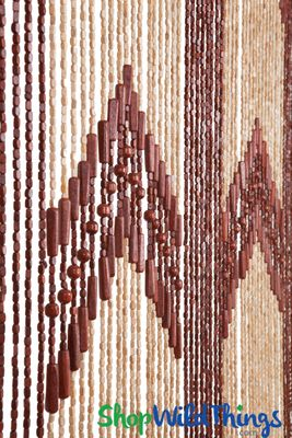 Brown Amp Beige Wooden Beaded Curtain 52 Natural Strands