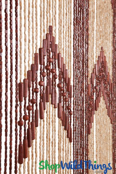 "Coming Soon - Wooden Bead Curtain - ""Dynasty"" - 35"" x 78"" - 52 Strands (Extra Coverage)"