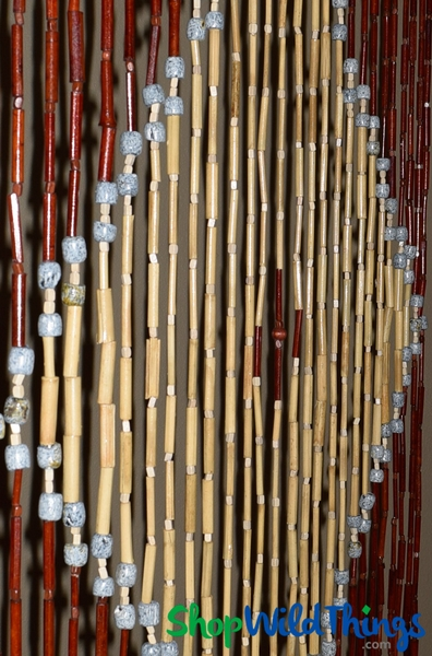 "COMING SOON! Wooden Bead Curtain ""Hong Kong"" - 35"" x 70"" - 27 Strands"