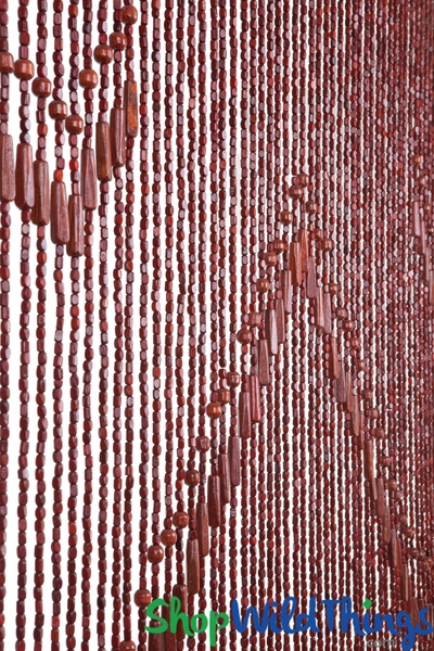 "COMING SOON! Wooden Bead Curtain - ""Lark"" Dark - 35"" x 75"" - 52 Strands (Extra Coverage)"