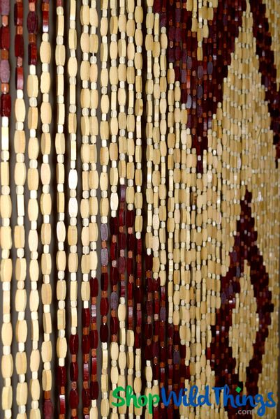 "COMING SOON! Wooden Bead Curtain - ""Tibet"" - 35"" x 74"" - 45 Strands"