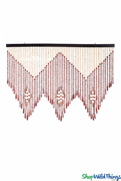 "COMING SOON! Wooden Bead Valance 35"" x 25"""