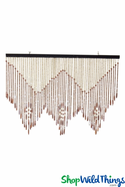 "COMING SOON! Wooden Bead Valance - ""Melbourne"" - 35"" x 25"" - 60 Strands"