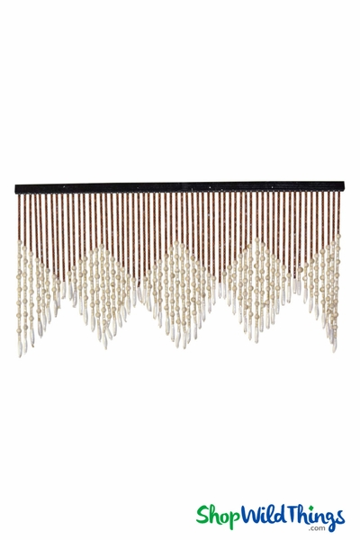 "COMING SOON! Wooden Bead Valance - ""Sydney"" - 35"" x 18"" - 60 Strands"