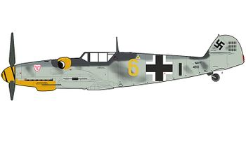 Bf 109G-6 Model, Luftwaffe, Alfred Surau- Hobby Master HA8752 - click to enlarge