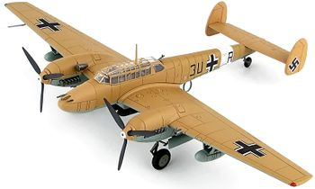 Bf 110E-2 Model, Luftwaffe, 7./ZG 26, 1942 - Hobby Master HA1815 - click to enlarge