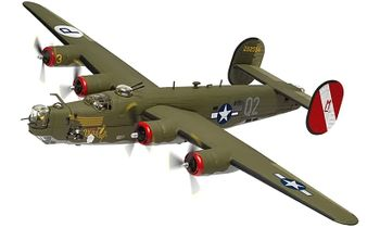 B-24H Liberator Model, USAAF, 'Witchcraft' - Corgi AA34019 - click to enlarge