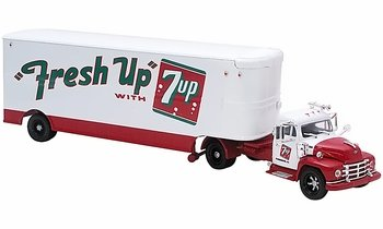 "Diamond T 620 with Trailer Model, ""Fresh Up with 7 Up"" - Corgi US52913 - click to enlarge"