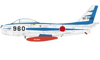 "F-86F Sabre Model, JASDF, ""Blue Impulse"" - Hobby Master HA4318 - click to enlarge"