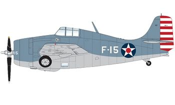 F4F-3 Wildcat Model, U.S. Navy, VF-3 - Hobby Master HA8904 - click to enlarge