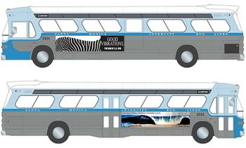 """SPEED GM New Look """"Fishbowl"""" Bus 1:43 Diecast Model - GreenLight - click to enlarge"""
