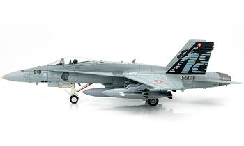 F/A-18C Hornet Model, Swiss Air Force, 18th Sqn - Hobby Master HA3507 - click to enlarge