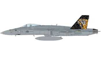F/A-18C Hornet Model, Swiss Air Force, Staffel 11 - Hobby Master HA3598 - click to enlarge