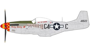 P-51K Mustang Model, Nooky Booky IV - Hobby Master HA7741 - click to enlarge