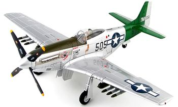 P-51D Mustang Model, Abner Aust Jr. (signed) Hobby Master HA7743A - click to enlarge