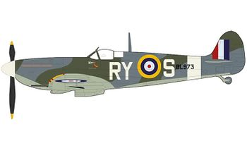 Spitfire Mk.Vb Model, RAF No. 313 Sqn - Hobby Master HA7853 - click to enlarge