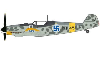 Bf 109G-6 Model, Finnish Air Force - Hobby Master HA8753 - click to enlarge