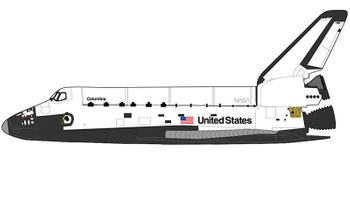 Space Shuttle Columbia Model, STS-1 - Hobby Master HL1406 - click to enlarge