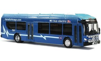 New Flyer Xcelsior Charge Bus Model: Chicago - Iconic Replica 87-0079 - click to enlarge