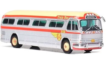 GM PD-4104 Coach: Santa Fe, Train Bus - Iconic Replicas 87-0203 - click to enlarge