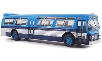 Flxible 53102 Bus Model: New York City - Iconic Replicas 87-0238 - click to enlarge