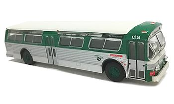 Flxible 53102 Bus Model: Chicago - Iconic Replicas 87-0241 - click to enlarge