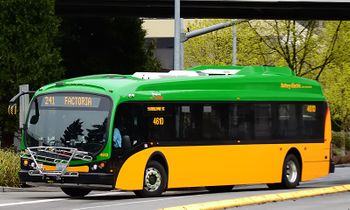 Proterra ZX5 Bus Model, Seattle - Iconic Replicas 87-0245 - click to enlarge