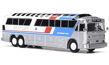 MCI MC-7 Coach Model, Gray Line - Iconic Replicas 87-0257 - click to enlarge