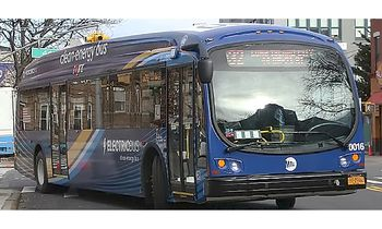 Proterra ZX5 Bus Model New York City- Iconic Replicas 87-0263 - click to enlarge