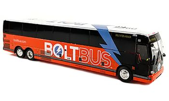 Prevost X3-45 Coach Model: BoltBus - Iconic Replicas 87-0276 - click to enlarge