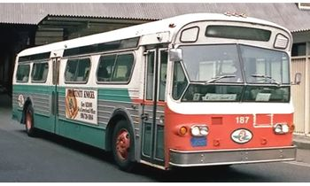Flxible 53102 Bus Model, AC Transit - Iconic Replicas 87-0283 - click to enlarge