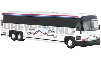 MCI 102 DL3 Coach Model, Greyhound, Washington - Corgi US53411 - click to enlarge