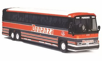 MCI 102 DL3 Coach/Bus Model, Bonanza Bus Lines - Corgi US53407 - click to enlarge