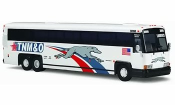 MCI 102 DL3 Coach/Bus Model, Greyhound TNM&O - Corgi US53405 - click to enlarge